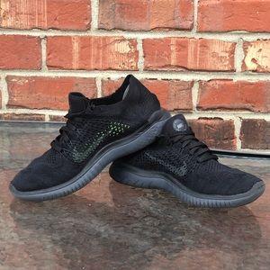 2018 Black Nike Flyknit Tech Running Sneakers